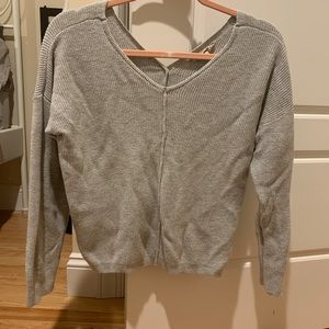 Juniors Gray button back Pink Republic sweater
